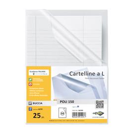 25 CARTELLINE A L 21X29,7 POLI 150 PPL B.A SEI