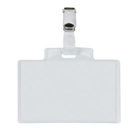 100 portanome Pass 3E 9,5x6cm c/clip in metallo Sei Rota