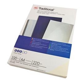 Scatola 100 copertine rilegatura Traditional A4 220gr carton.bianco liscio GBC
