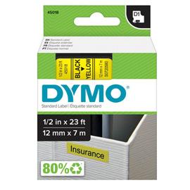 NASTRO DYMO TIPO D1 (12MMX7M) NERO/GIALLO 450180