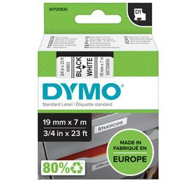 NASTRO DYMO TIPO D1 (19MMX7MT) NERO/BIANCO 458030