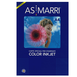 CARTA INKJET A4 125GR 50FG COLOR GRAPHIC EFFETTO PHOTO 8096 AS MARRI