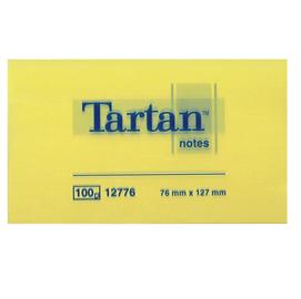 Blocco tartan 12776 giallo 76x127mm 100fg 63gr