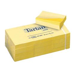 Blocco tartan 5138 giallo 51x38mm 100fg 63gr