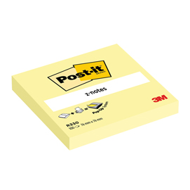 Blocco 100fg post-it z-notes r330 giallo canary™ 76x76mm