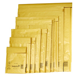 10 BUSTE IMBOTTITE GOLD B 12X21CM UTILE AVANA