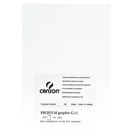 LUCIDI G22 A4 100FG PROFILMGRAPHIC ADESIVI LASER FOTOCOPIE B/N CANSON