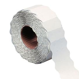 Rotolo 1000 etichette 26x16mm bianche permanenti a onda Markin (Conf. 16)