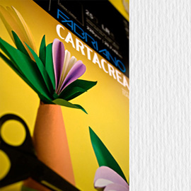 Blister 10fg cartoncino 35x50cm 220gr bianco Cartacrea Fabriano