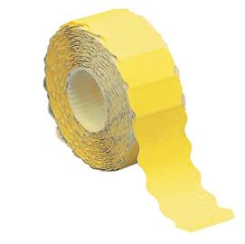 Rotolo 1500 etichette 26x12mm giallo fluo permanenti a onda Markin (Conf. 16)