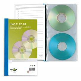 Porta CD DVD personalizzabile UnoTI CD 20 125x120mm Sei Rota