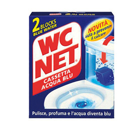 WC NET CASSETTA BLU WATER X 2