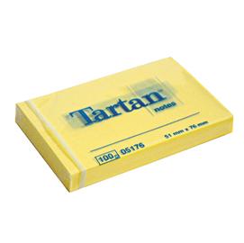 Blocco tartan 5176 giallo 51x76mm 100fg 63gr
