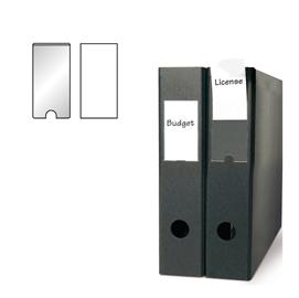 Busta 6 portaetichette PPL adesive trasparenti 55x150mm 10340S 3L