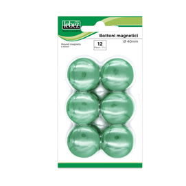 BLISTER 12 MAGNETI MR-40 VERDE DIAM.40MM