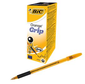 Scatola 20 penna sfera ORANGE® GRIP 0,8mm nero BIC®