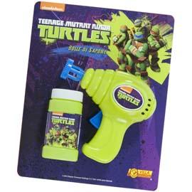 Pistola spara bolle turtles - completa di flacone