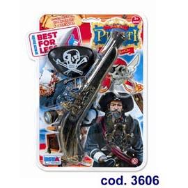 Pirati all'arrembaggio - blister con pistola benda e anello