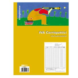 REGISTRO PRIMA NOTA IVA CORRISPETTIVI 29,7X23 13/13 FG AUTORIC. E2104A