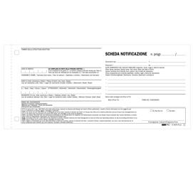 250 SCHEDE DI NOTIFICA SNAP A 2 COPIE AUTORIC. 10X22 E5876N
