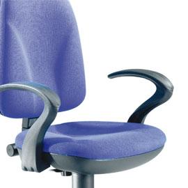 Coppia braccioli per sedia operativa team