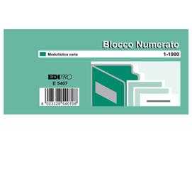 SET 10 BL. DA 100 NUMERI (BLOCCO NUMERATO 1-1000) 6X13 E5407 (Conf. 5)