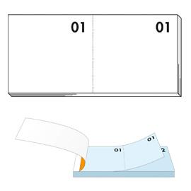 Blocco numerato 1-100 bianco 13x6cm art 12 bm