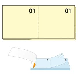 Blocco numerato 1-100 giallo 13x6cm art 12 bm