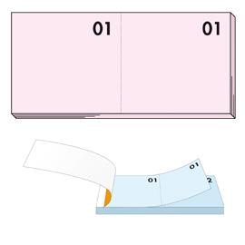 Blocco numerato 1-100 rosa 13x6cm art 12 bm