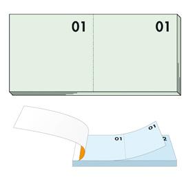 Blocco numerato 1-100 verde 13x6cm art 12 bm