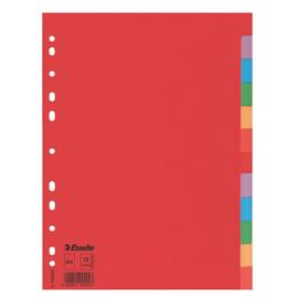 Separatore economy in cartoncino 160gr colorato 12 tasti A4 ESSELTE