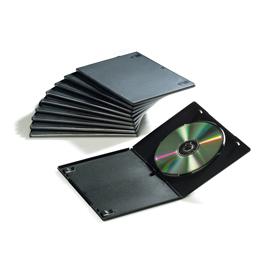 SCATOLA 10 CUSTODIA SLIM DOPPIA DVD NERA 9834001 FELLOWES