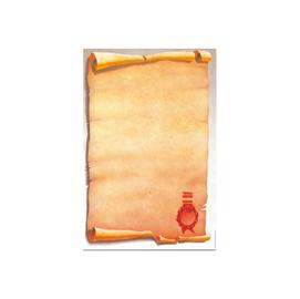 Carta a tema con stampa pergamena avorio a4 80gr 25fg for Immagine pergamena da colorare