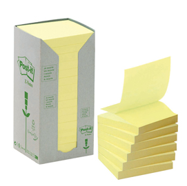 Blocco 100foglietti post-it®z-notes green 76x76mm r330-1t giallo ricicl.100
