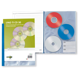 Porta CD DVD personalizzabile UnoTI CD 30 220x300mm Sei Rota