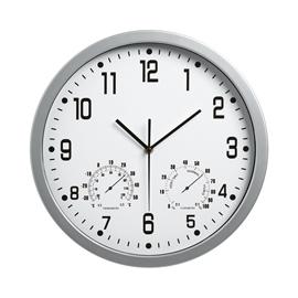 Orologio weather station diam. 35cm bianco art.3217