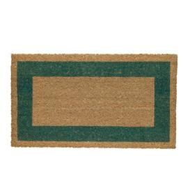 Zerbino cocco c/fondo in vinile 45x80cm verde velcoc