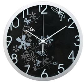 Orologio da parete ø 30,5cm flowers nero methodo