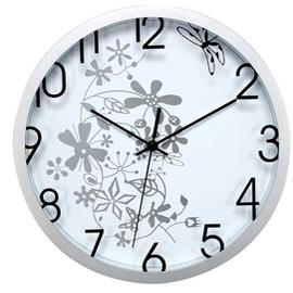 Orologio da parete ø 30,5cm flowers bianco methodo