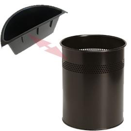 Vaschetta 1lt nera per cestini twinco