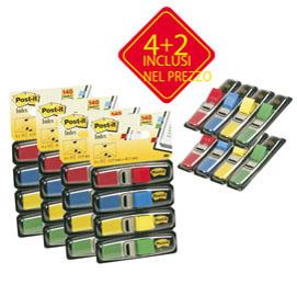 PACK 4+2 BLISTER 140 INDEX MINI IN 4 COLORI CLASSICI