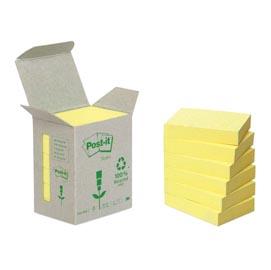 Blocco 100foglietti post-it®notes green 38x51mm 653-1b giallo