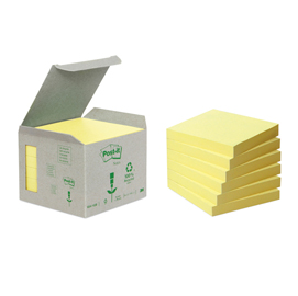 Blocco 100foglietti post-it®notes green 76x76mm 654-1b giallo