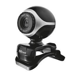 Webcam Exis per Pc e laptop con microfono integrato - nero/silver - Trust