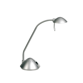 Lampada da scrivania kansas argento alogena 20w