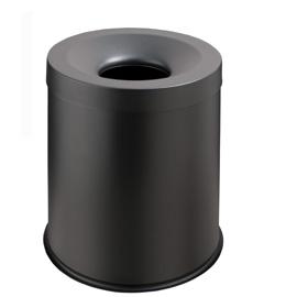 Gestino gettacarte autoestinguente 15lt grisu' nero