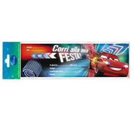 BLOCCHETTO 10 INVITI ALLA FESTA CARS 2 DISNEY SADOCH