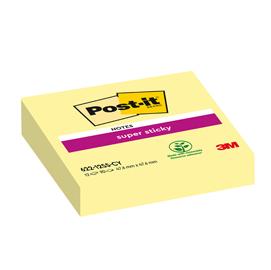Blocco 90foglietti post-it®super sticky giallo canary™ 47,6x47,6mm 622-12ss-cy