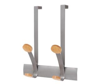 Appendiabiti da porta 2posti 30cm metallo/legno alba