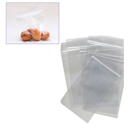 100 sacchetti zip 4x6cm plastica 45mic.
